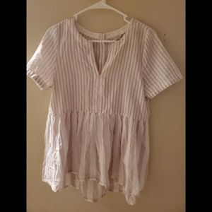 11-1 TYLHO Anthropologie Lagenlook Boho Peplum Top